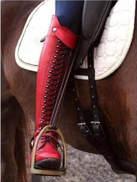 Low Heel Solid Color Winter High Riding Boots
