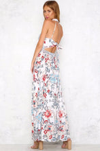Load image into Gallery viewer, 2018 Floral Sleeveless Halter Beach Maxi Dress