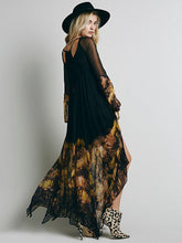 Load image into Gallery viewer, Elegant Chiffon Floral-Printed Ruched Maxi Dress