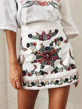 Load image into Gallery viewer, 2018 Spring Vintage Embroidered Short Skirt