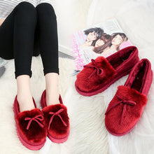 Load image into Gallery viewer, Keep Warm Fur Lining Suede Soft Flat Platform Loafers For Women