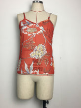 Load image into Gallery viewer, Spaghetti Neck Red Floral-Print Vest T-Shirt Tops