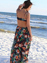 Load image into Gallery viewer, Sexy Bohemia Floral Spaghetti Straps Hi-Lo Style Beach Maxi Dress