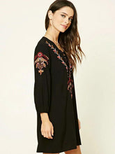 Load image into Gallery viewer, Fashion Inwrought Floral-Print Lace-up V Neck Bohemia Beach Dress