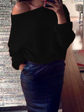 Load image into Gallery viewer, Sexy Solid Color Off-the-shoulder Sweater Tops