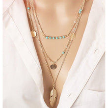 Load image into Gallery viewer, Simple Sequined Alloy&Turquoise Necklaces Accessories