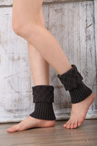 Boot cuff thick short-sleeved thick thick bamboo knit wool yarn socks - 8