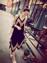 Load image into Gallery viewer, Attractive Black Bohemia Spaghetti Straps Deep V Neck Backless Beach Midi Dress