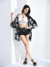 Load image into Gallery viewer, Popular 3/4 Sleeve Printed Shirt Shawl Cover-up Tops