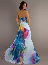 Load image into Gallery viewer, Colorful Strapless Sweet Heart Maxi Dress Party Dress