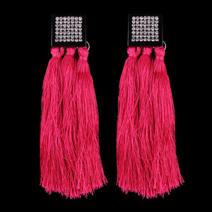 Bohemia tassel pendant studs earrings for women ethnic long pendant post earrings chunky earrings fashion jewelry
