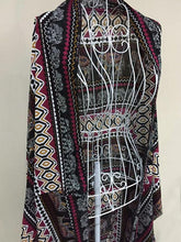Load image into Gallery viewer, Fashion Bohemia Printed Half Sleeve Shawl Cover-up Tops