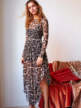 Load image into Gallery viewer, Irregular lace dress with long lining lined dress
