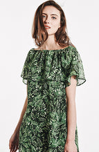 Load image into Gallery viewer, Printed Chiffon Short Sleeve Short Mini Dress