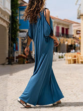 Load image into Gallery viewer, Solid Color Loose Summer Beach Maxi Dress