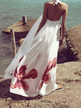 Load image into Gallery viewer, Printed Floral Halter Backless Maxi Long Dress