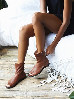 Summer Beach Open Toe Flats Sandals