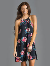 Load image into Gallery viewer, Beautiful Floral-Print Straps Sleeveless Round Neck Bohemia Mini Dress