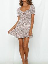 Load image into Gallery viewer, Bohemian Sexy Short Sleeve V-neck Lotus Edge Mini Dress