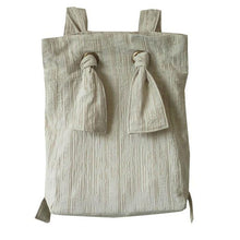 Load image into Gallery viewer, Women Special Casual Cotton Linen Lacing Simple Beige Backpack