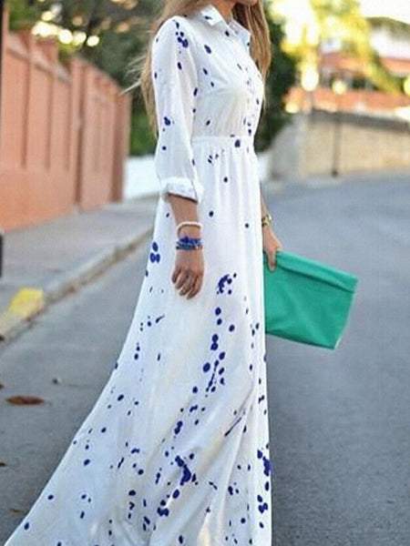 Elegant Long Sleeve New Fashion Maxi Dress
