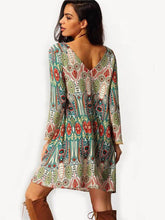 Load image into Gallery viewer, Beautiful Bohemia Long Sleeve Round Neck Mini Dress