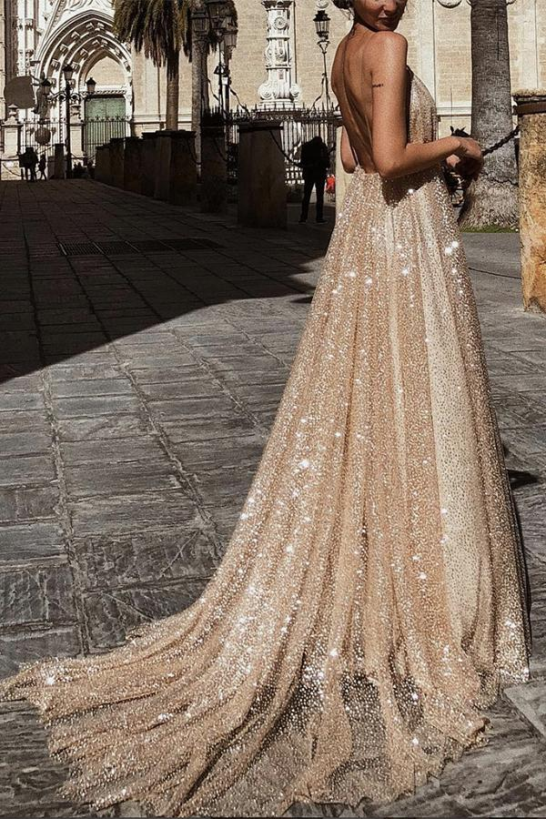482c49292f1e8 ... Load image into Gallery viewer, Elegant Sleeveless Backless Evening  Maxi Dress ...