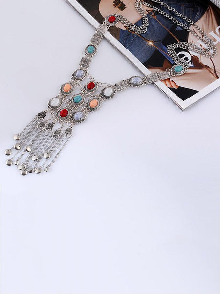VINTAGE CRYSTAL TASSEL NECKLACES For Women