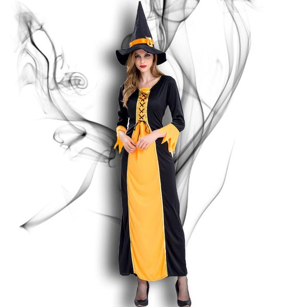 Halloween Witch Cosplay Party Maxi Dress