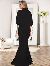 Load image into Gallery viewer, Sexy Two-Piece Suit Sling Slim Solid Color Evening Dress