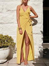 Load image into Gallery viewer, Backless Split-side Maxi Dress