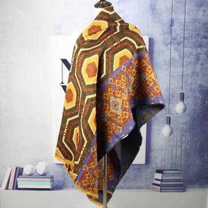 Winter Thick Geometric Imitation Cashmere Warm Shawl