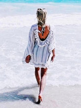 Load image into Gallery viewer, 2018 Stripe Long Sleeve Beach Dress