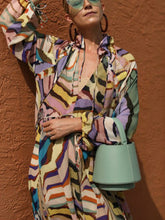 Load image into Gallery viewer, Bohemian Wind Depth V Long Sleeve Printed Dress