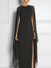 Load image into Gallery viewer, Special Round Neck with Cover-Up Maxi Dress Evening Dress