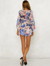 Load image into Gallery viewer, 2018 Summer Print Chiffon Long Sleeve Short Rompers
