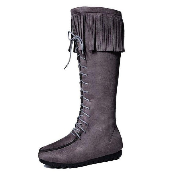 Winter Vintage Tassel High Boots