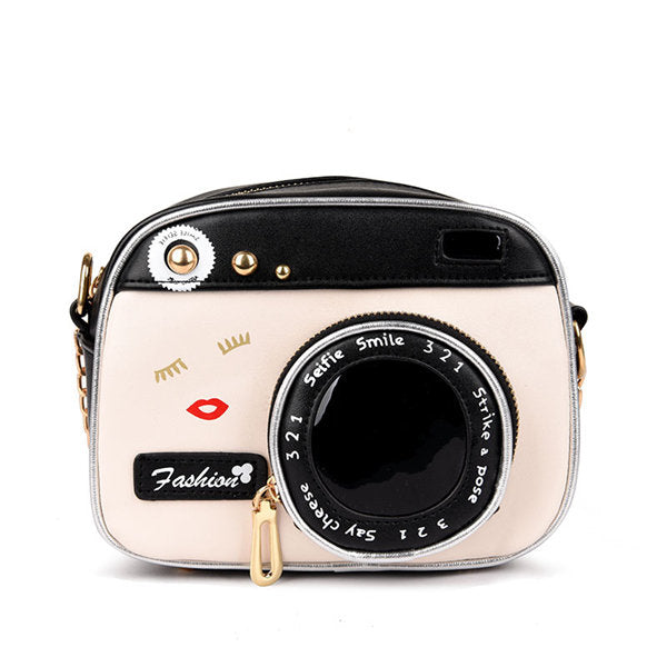 Cartoon Creative Camera Shape Crossbody Bag Shoulder Bags Chain Phone Bag For Women