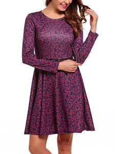 Sexy Floral Long Sleeves Mini Dress