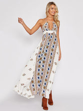 Load image into Gallery viewer, Sexy Floral Halter Backless Boho Beach Maxi Long Dress