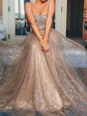 Sexy Elegant Sequin Sleeveless Maxi Evening Dress