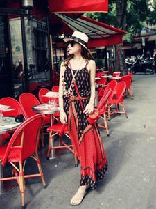 Pretty Bohemia Spaghetti Straps Maxi Dress Beach Dress