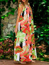 Load image into Gallery viewer, Bohemia Floral Bandage Maxi Dress