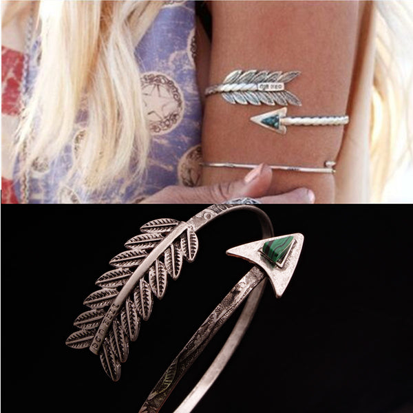 Retro fashion exaggerated gem cupid arrow ladies bracelet arm ring