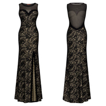 Load image into Gallery viewer, 2018 Summer Lace Sleeveless Split Evening Gown Maxi Dress
