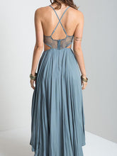 Load image into Gallery viewer, Sexy Spaghetti Straps Backless Hi-Lo Style Maxi Dress