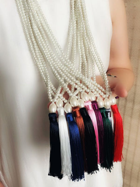 Cheongsam Accessories Long Tassel Necklace Sweater Chain Clothing Pendant Jewelry