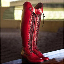 Load image into Gallery viewer, Low Heel Solid Color Winter High Riding Boots