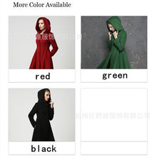 Load image into Gallery viewer, Solid Color Hoods Long Pendulum Slim Slim Fashion Simple Coat