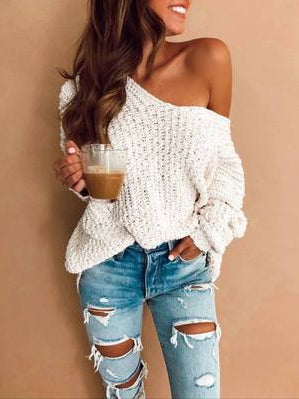 Autumn Winter New Hooded Jacket Knitted Sweater